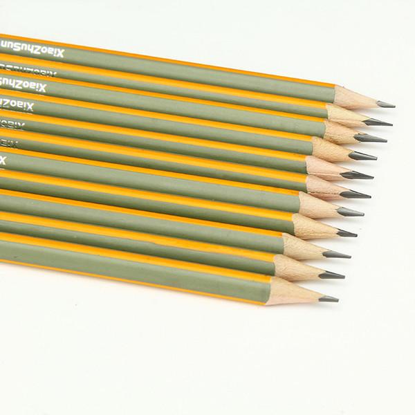 Petits pousses de bambou 12 bâtons HB bandes de peinture mate sans plomb Poison Triangle enfants étudiants crayon Fabricants Spot Factory fournitures