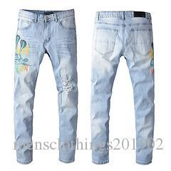Brand New Fashion Mens Designer Jeans Mens High Quality Distressed Amiri Jeans Casual Trousers Mens Designer Biker Denim Pants