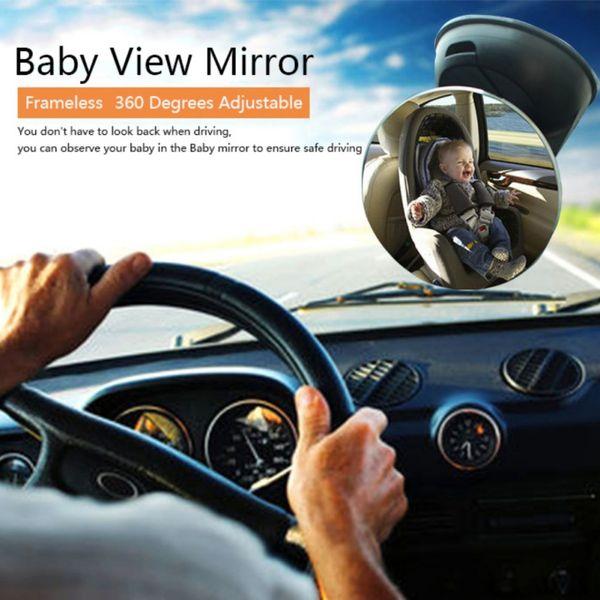 Girando Ventosa Car Rear View Mirror Back Seat infantil Espelho Segurança Crianças Monitor de carro Interior Acessórios OX