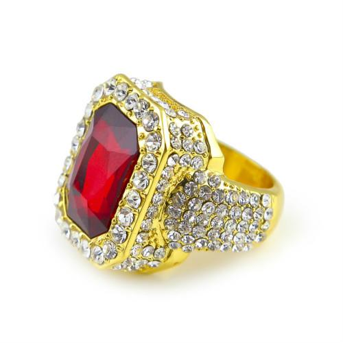 Gold with ruby
