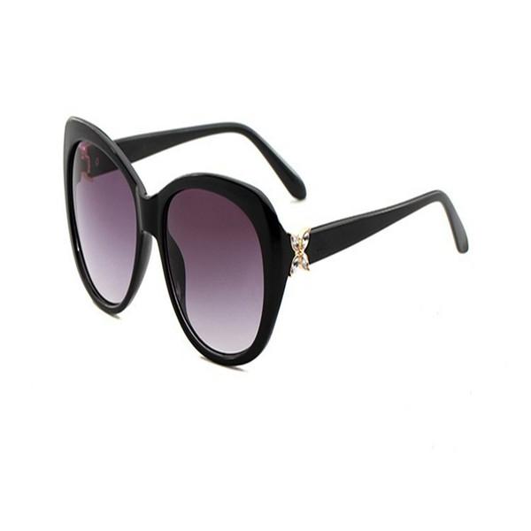 Diamond Sunglasses Female Outdoor Driving Spectacles Trend Exquisite Eyeglass Uvioresistant Black Purple Plastic Frame Hot Sales 14 5qyj C1