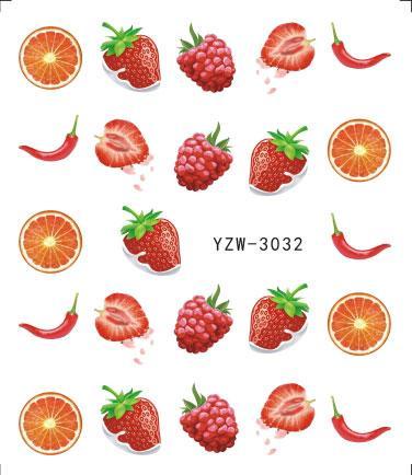 Tatlı Meyve Nail Art Su Transferi Sticker Tırnak Süslemeleri Setleri Kadınlar Makyaj DIY Güzellik Dövmeler Araçları