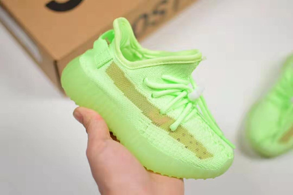 top popular 2020 True Form Infant v2 Hyper space Kids Running shoes Clay Kanye West Fashion toddler trainers big small boy girl Toddler sneaker no box 2020