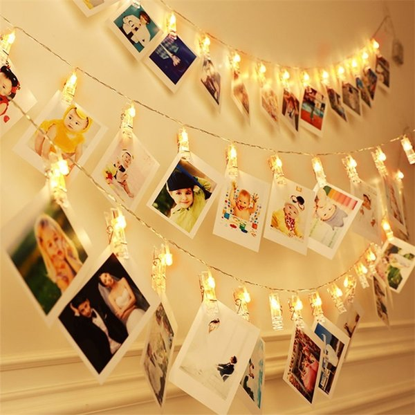 Hot Sale 1.5M 3M 6M Photo Clip Holder LED String lights Battery Powered Christmas New Year Party Wedding Decoration Fairy lights