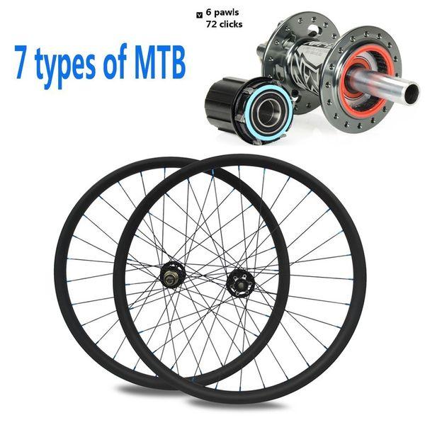 29er MTB Carbon Wheel Koozer XM 490 Hub 32h 700c Hookless/Asymmsetric Rim For Corss Country All Mountain Bike carbon Wheelset