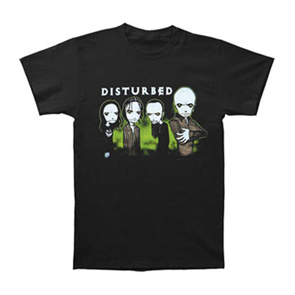 Disturbed Men's Midnight Glow In The Dark T-shirt X-Large Black 2018 Male Short Sleeve Top Tee Free Shipping