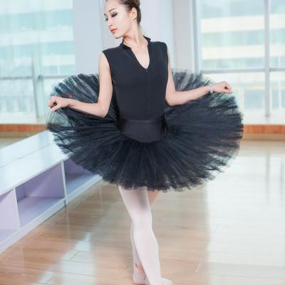 vestito da balletto balletto tutu nero / bianco / rosso Swan Gonna danza Ginnastica Body Body per le donne Costume di scena della ballerina