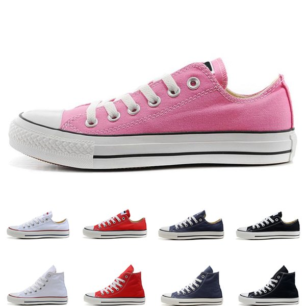 Top Quality designer casual Shoes black white red beige pink navy blue high low fashion men women athletic size 36-44