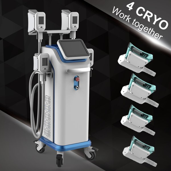 Cold Therapy Cooling System Fat Freeze Cellulite Reduction Vacuum Pressure Photon Cryolipolysis Machines with 4 handles