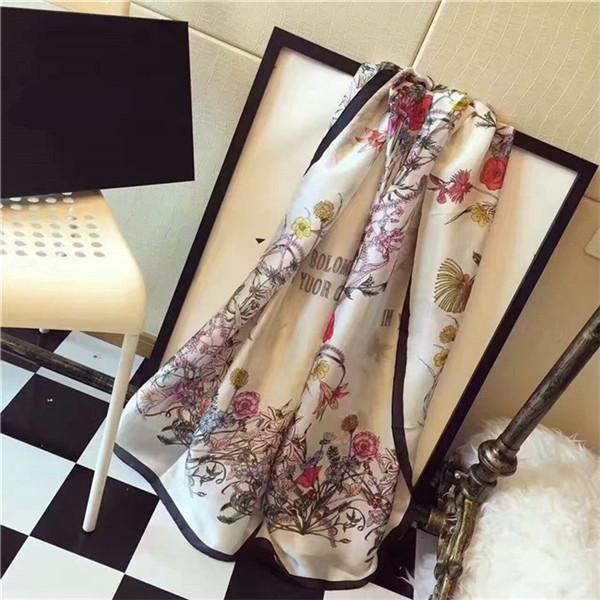 Elegant design women's flower silk spring and summer fashion beautiful elegant wear women's summer beach towel