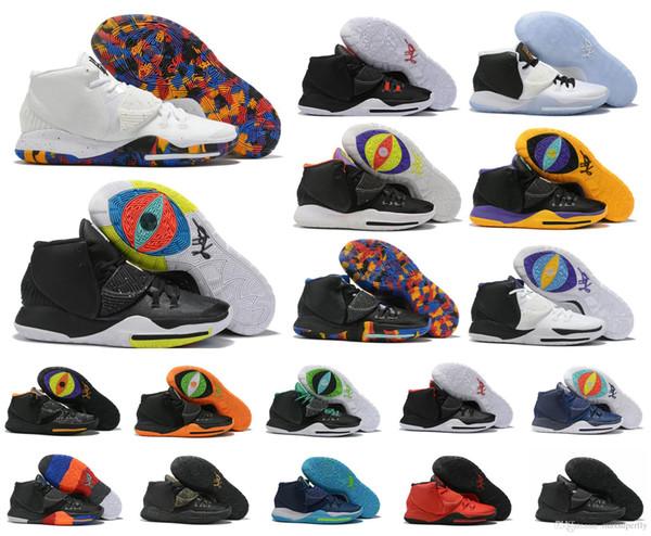 2019 Yeni Kyrie Black Magic VI 6 KI6 Erkek Basketbol Ayakkabıları Irving 6 S Zoom Spor eğitimi Sneakers Yüksek Ayak Bileği Boyutu 40-46