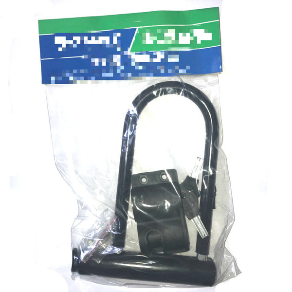Venta al por mayor-Anti Theft Bicycle Lock Mountain Bike Road Cycling Black Security Creative U Shaped Locks con llaves de soporte 7 5kq jj