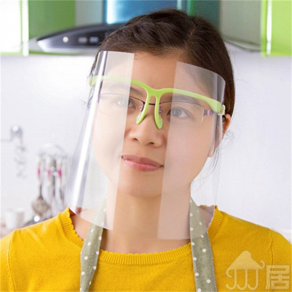 best selling Safety Transparent Protective Mask With Glasses Frame Plastic Antifogging Anti Saliva Splash Full Face Shield Dust Mouth Masks 5 68jt E1