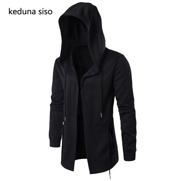 Großhandel Hoodies Männer Schwarze Strickjacke Hoodie Männer Mit Kapuze Mantel Assassins Creed Kleidung Mantel Hoodies Oberbekleidung Jacke Moleton