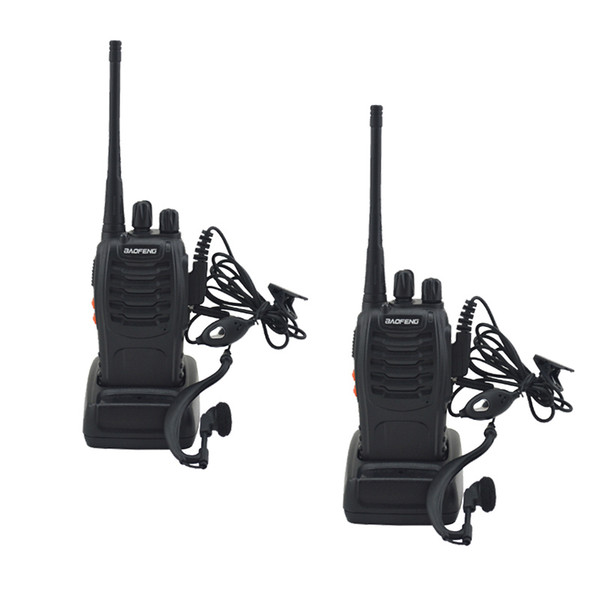 top popular Hot 2pcs lot BAOFENG BF-888S Walkie talkie UHF Two way radio baofeng 888s UHF 400-470MHz 16CH Portable Transceiver with Earpiece 2021