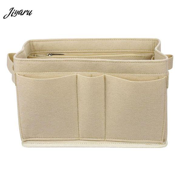 Felt Cloth Insert Bag Organizer Makeup Bag Organizer for Handbag Multi-functional Travel Cosmetic Case Portable Cosmetic