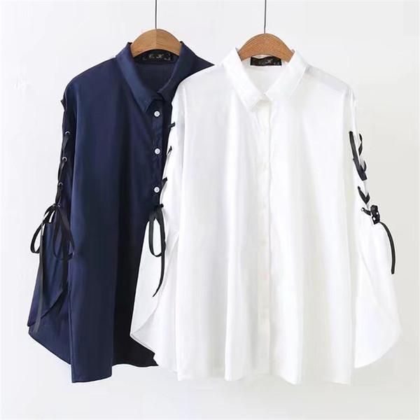 86f79f4eeb90 Ropa de gran tamaño para mujer 2018 Primavera Verano Nueva Talla grande  Blusa Suelta Moda de