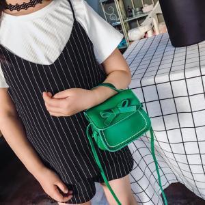 Linda chica arco bolsa de hombro niño PU Crossbody Bolsos encantador Flap bolso dulce paquete cartera LLA152
