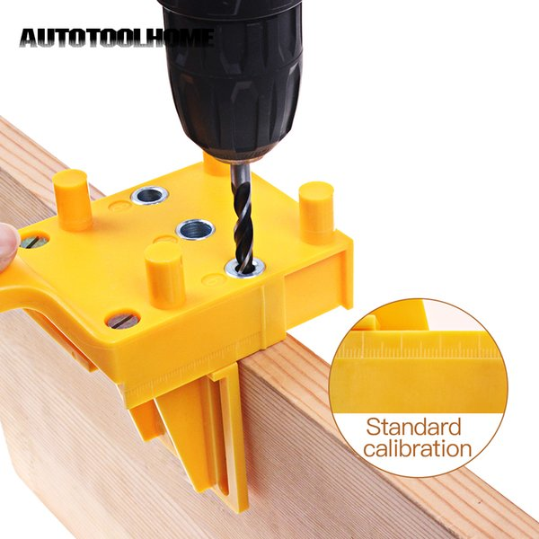 heap Power Tool Accessories Woodworking Handheld Jig Drill Guide Positioning Tools for Wood Dowel Drilling Hole Saw Accessories fits 6 8 ...