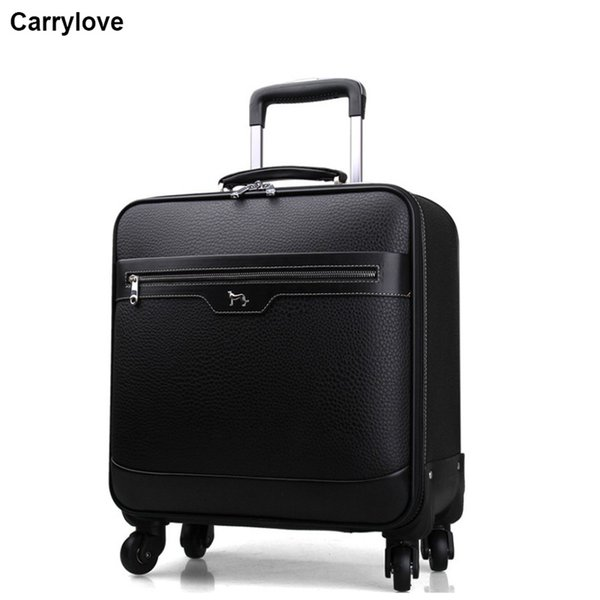 "CARRYLOVE 16""20""22"" men business carry on travel suitcase spinner hand trolley luggage on wheels"