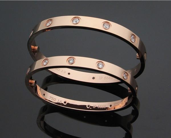 Pulseiras diamon de alta qualidade pulseira de parafuso de aço inoxidável 316L com parafusos de chave de fenda nunca perdem para o melhor presente