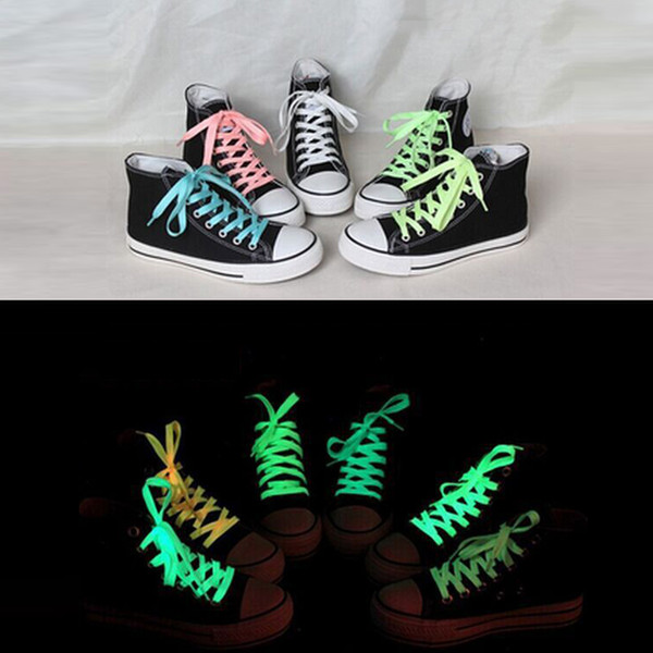 1pair 120cm Fashion Sport Luminous Toys Accessories Shoelace Glow In The Dark Improve Manipulative Ability Gift For Children