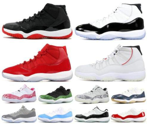 Snakeskin Platinum Tint Concord 45 prom night XI 11s 11 Cap and Gown Men women Basketball Shoes bred space jam Mens Sports sneakers