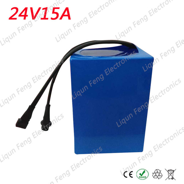 24V 15AH Battery Pack Lithium 24V 350W Ebike li-ion 24V 15AH lithium Electric Bike Battery for 350W Motor and 2A Charger