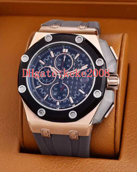 6 Style Excellent Wristwatches N8 44mm Offshore 226568 226568IM.OO.A004CA.01 Rubber Bands VK Quartz Chronograph Workin Mens Watch Watches