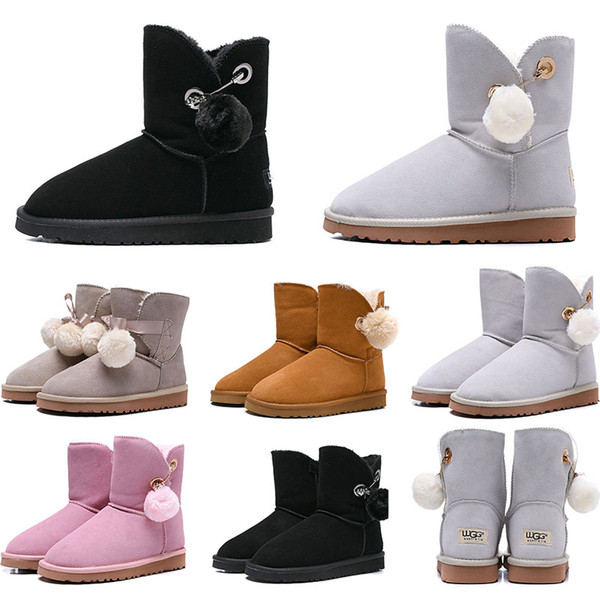 Hotsale women boots Australia Classic snow Boots WGG tall real leather Bailey Hairball girl winter desinger Keep warm size 36-41
