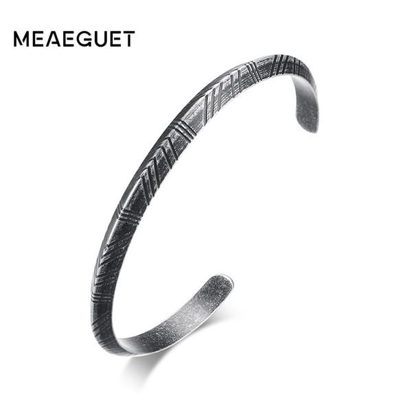 Meaeguet Vintage Totem Style Viking Bracelet & Bangle Retro Stainless Steel Bracelets For Women Men Pulseras Hombre Jewelry