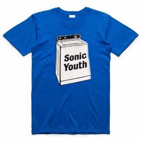 Sonic Youth Washing Machine T-Shirt, Blau, 100% Baumwolle, Neu, XL, alternativer Rock