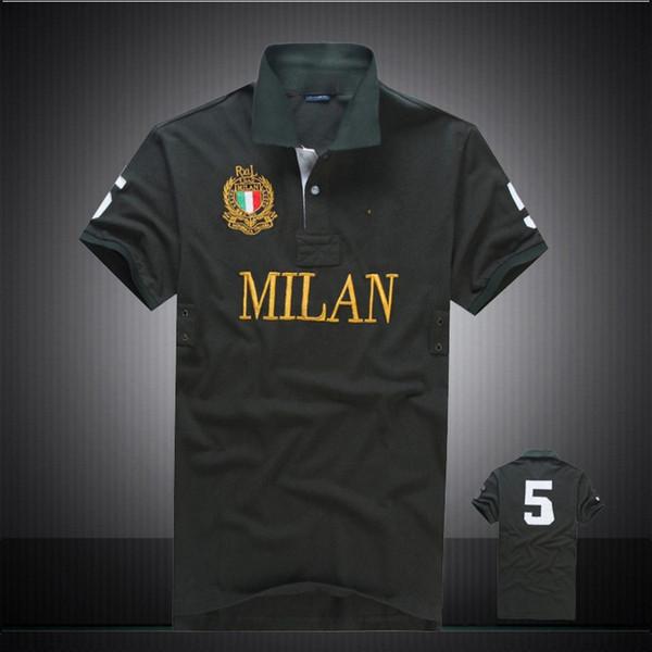 2018 Brand London New York Chicago polos men's shirt cotton Men's Polo Shirt Short Sleeve T shirt Dropship Cheap High Quality Tops