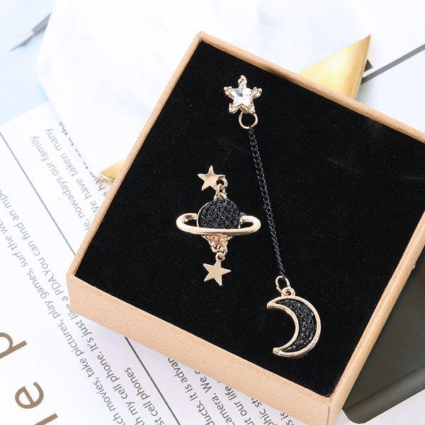 New Luxury designer Earrings Women Asymmetrical Star Moon Earrings Fashion Earth Earrings Long Personality Ear Jewelry