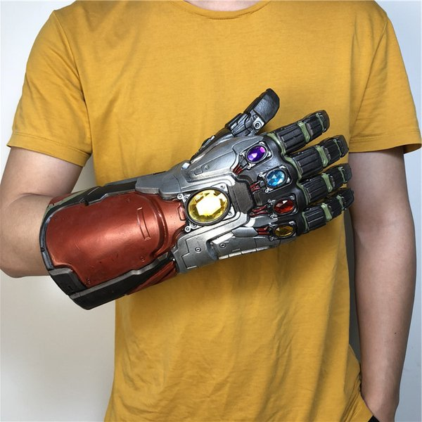 Avengers 4 Endgame Thanos Iron Man gloves 2019 New Children's adult Halloween cosplay Natural latex Infinity Gauntlet Toys B
