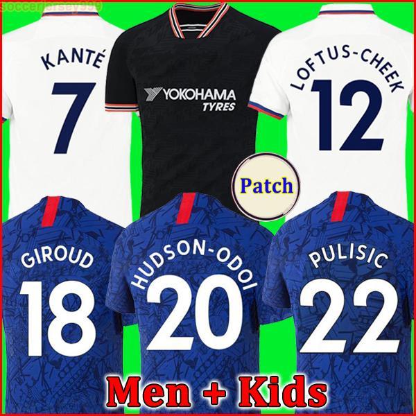 Maillots de football CFC chelsea KANTE LAMPARD ODOI JORGINHO PULISIC 2019 2020 GIROUD Maillot de foot Camiseta de 19 20 maillot hommes + enfants de la soccer jersey