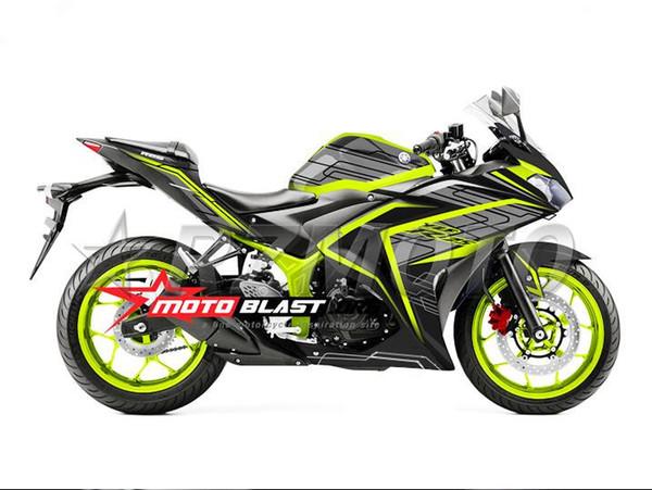High quality New Injection ABS Mold Motorcycle plastic Fairing Kit For YAMAHA R3 R25 2015 2016 15 16 Fairings Bodywork set custom green gray