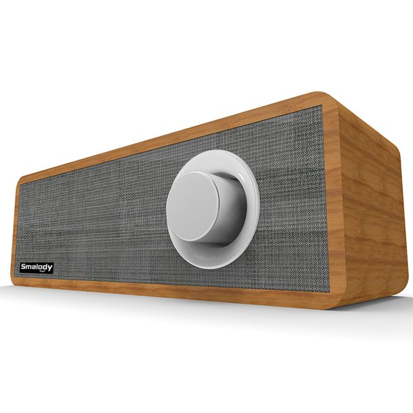 Smalody SL-50 Wireless Bluetooth Speaker 8W Portable Wooden Soundbar Strong Bass Sound Box Music Subwoofer For Tablet Laptop PC 7