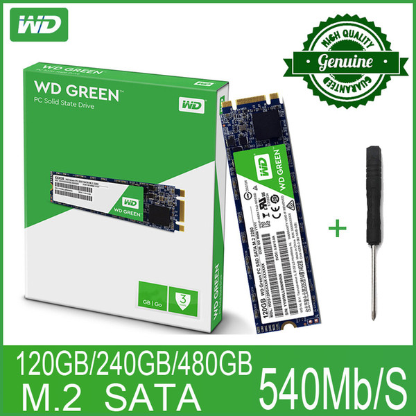 top popular m.2 2280 WD Green PC SSD 120 240GB 480GB Internal Solid State Hard Drive Disk M.2 SATA 2280 540MB S 120G 240G for 2019