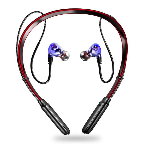X9 Dual Dynamic Bass Sound Auricular Bluetooth Gancho / in-ear Auriculares inalámbricos deportivos estables 250mAh Tarjeta TF MP3 Auriculares impermeables