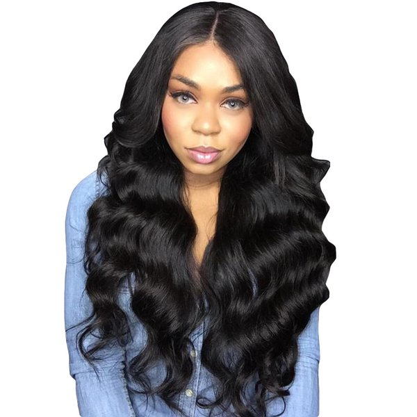 Transparent Full Lace Wigs Body Wave Glueless Pre Plucked With Baby Hair Peruvian Remy Hair Wig Bleached Knots To 24 Inch