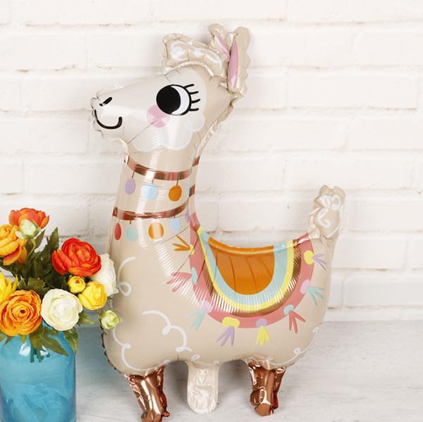 2019 Lovely alpaca Foil Balloons cartoon animal balloon decoration Birthday Wedding favors and gifts Alpaca balloons helium balls