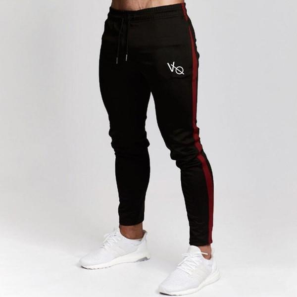 Erkek Joggers Rahat Pantolon Spor Erkek Spor Eşofman Altları Sıska Sweatpants Pantolon Siyah Spor Salonları Joggers Parça Pantolon