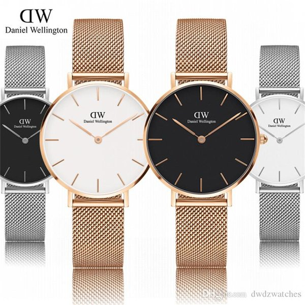 2019 New Small quadrante Steel strip Daniel wellington's orologi 32mm donna orologi Fashion luxury watches Orologio al quarzo Montres homme Relógios