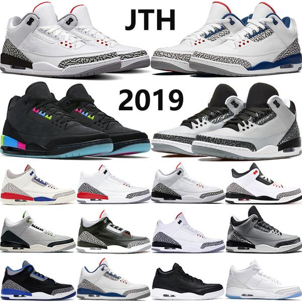 2020 yüksek kaliteli basketbol ayakkabı mens JTH beyaz çimento siyah kedi Kızılötesi 23 Yardım oyunu gerçek mavi Klorofil spor ourdoor tasarımcı sho