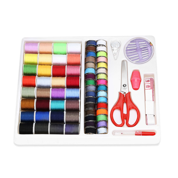 Practical Travel Sewing Kit With Scissor Tape Measure Thimble Sewing Thread Needle With Box For DIY Apparel Sewing