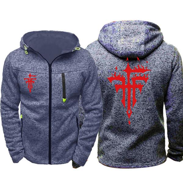Anime FFF Group Cosplay Men Sports Casual Hoodies Zipper Tide Jacquard Fall Sweatshirts Spring Autumn Jacket Coat Tracksuit Tops