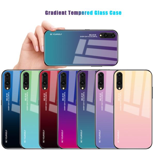 Para huawei p20 pro / p20 lite / mate 20 pro 20 lite / honor 10 lite huawei p inteligente 2019 / honor magic 2 temperado vidro case tampa do telefone colorido