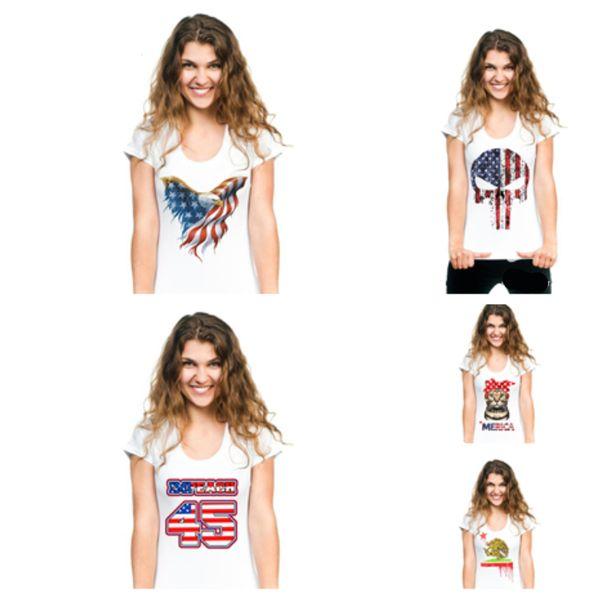 bandeira nova do trunfo camisetas cópia quente do estilo camisetas curto-sleeved camisetas as camisas das mulheres do verão grandes mulheres t-shirt T2B5011 home da roupa