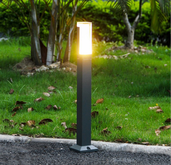Acheter Carré LED Pôle Borne Lampe Villa Jardin Lumière Debout LED Moderne Imperméable À L'eau Poste Extérieure Lampe De Pelouse Lampe LED LLFA De